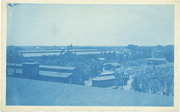 [Southern Pacific Railroad Sacramento Shops complex: panoramic view]