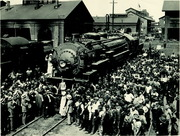 [Southern Pacific Railroad Sacramento Shops complex: celebration to mark arrival of SP steam locomotive No. 5000]