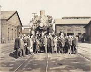[Southern Pacific Railroad Sacramento Shops complex: celebration to mark completion of SP steam locomotive No. 4328]