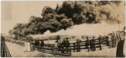 [Fire at the Central Pacific Railroad yards, Sacramento]