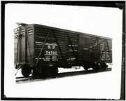 [Southern Pacific Railroad stock car 74740]
