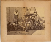 [Group portrait of Central Pacific Railroad employees: Car Department]