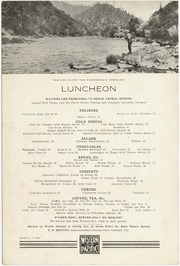 [Western Pacific Railroad dining car menu]