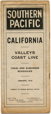 [Southern Pacific Railroad public timetable]