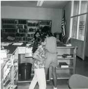 Young helpers at the City Terrace Library, East Los Angeles, California