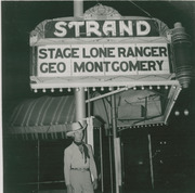 George Montgomery at the Strand Theatre, East Los Angeles, California