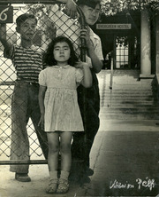 Jun Oyama at the Evergreen Hostel after release from the Amache Japanese internment camp, Boyle Heights, California