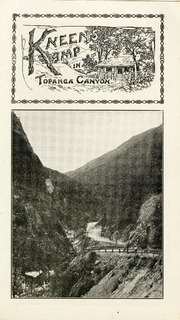 Front, Inside and Back of Kneen's Kamp brochure, Topanga Canyon, California