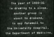 University of California Medical School medical staff and faculty, 1930-1936