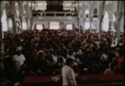 [Jim Jones preaching at the Peoples Temple church in Los Angeles]