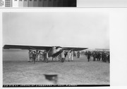 "Arrival of Charles Lindbergh and the ""Spirit of St. Louis"" at Mills Field Municipal Airport, September 16, 1927"