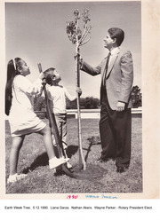 Planting a Tree for Earth Week Tree, May 12,1990