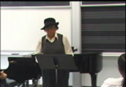 Music of African Americans in California, lecture by Evelyn Freeman Roberts