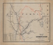 Map of the Sacramento Division -- Southern Pacific