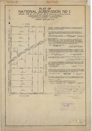 Plat of National Subdivision No. 1