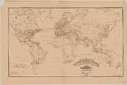 Telegraphic Wire Map of the Entire World