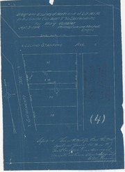 "Diagram of Survey of North 41 + ft of Lot 76 in H.J. Goethe Co's Addition ""F"" to Sacramento for May Vallaier"