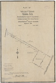 Plat of Walnut Grove School Site