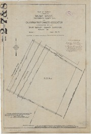 Plat of Survey Near Walnut Grove for California Fruit Canners Association