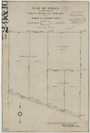 Plat of Survey of that Portion of W. 1/2 of Section 20, T8NR6E Lying North of Jackson Road