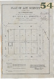 Plat of Lot Survey Made for C.F. Prentiss