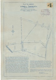 Plat of Survey of Cowell Property