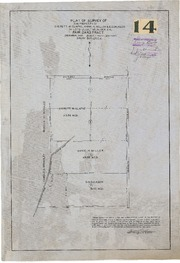 Plat of Survey of The Property of Everett W. Glafke, Annie H. Miller, & D.D. Dickson