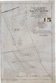 Plat of Survey of Property of Ralph Moore