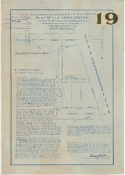 Plat of Survey of Lots 13,14, & 15, G.H. Kerr Tract of Plat of Elk Grove Station