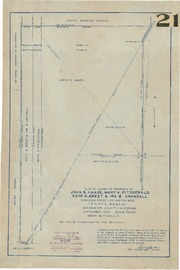 Plat of Survey of Property of John B. Haase, Mary A. Fitzgerald, Kate G. Sweet, & Ira B. Crandall