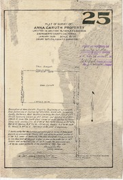 Plat of Survey of Anna Caruth Property