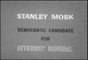 Politics 1962: Stanley Mosk, Democratic candidate for attorney general, California
