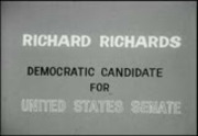 Politics 1962: Richard Richards, Democratic candidate for US Senate