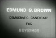 Politics 1962: Edmund G. Brown, Democratic candidate for governor, California