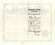1926 Marriage License for Alexander Hackett and Effie Cox Hackett, Parents of Irene Button 2
