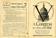 "1942 Amphlet from The New Republic Describing, ""The Men and Issues in this Year's Campaign, with a Chart Showing How Each Congressman Voted on the Twenty Most Vital Foreign and Domestic Measures"""