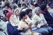 Peoples Temple Members in Audience at Outside Gathering, Possibly in Philadephia, Pennsylvania