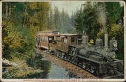 Mountain Train leaving Mill Valley for summit of Mt. Tamalpais, Cal.