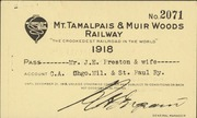Annual pass on the Mt. Tamalpais & Muir Woods Railway