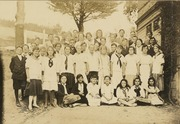 Summit School eighth grade class of  1918 and seventh grade class of 1916