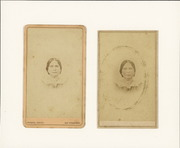 Two carte de visite photographs of Hilaria Sanchez Reed Garcia