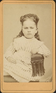 Portrait of Sarah E. Boyle as a child