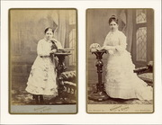 Cabinet cards featuring Mary Matilda Deffebach and unidentified young woman