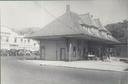 Railroad depot and Keystone Building in Mill Valley, California