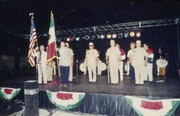 Veterans With American And Mexican Flags