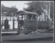 Locomotive engine and passenger car, 1909