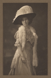 Mrs. Ralston White, with large hat and fur