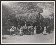 Dr. Alexander Warner and family with horses