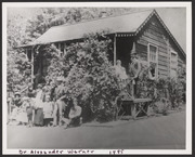 Dr. Alexander Warner and family at summer home
