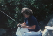 Clark Family Home movies  Mammoth Fishing Jeff and Mom